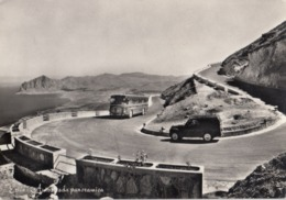 ERICE-TRAPANI-AUTOSTRADA PANORAMICA(AUTOBUS-CORRIERA-BUS)CARTOLINA VERA FOTOGRAFIA-VIAGGIATA  IL 26-7-1955 - Trapani
