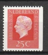 1969 Juliana 25ct Rozerood, Fosfor, Rechts Ongetand. NVPH 940 Postfris/MNH** - Periode 1949-1980 (Juliana)
