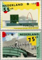 1987 Europa, Modern Architecture, Dance Theater  NVPH 1376-1377 Postfris/MNH/** - Periode 1980-... (Beatrix)