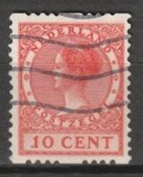 1925 Tweezijdige Roltanding 10ct Zonder Watermerk NVPH R10 Gestempeld - Postzegelboekjes En Roltandingzegels