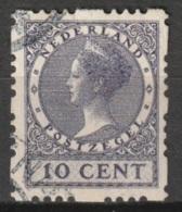1928 Vierzijdige Roltanding 10ct NVPH R45 Gestempeld - Postzegelboekjes En Roltandingzegels