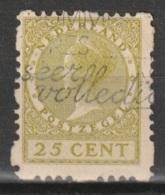 1928 Vierzijdige Roltanding 25ct NVPH R51 Gestempeld - Postzegelboekjes En Roltandingzegels