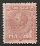 Suriname 1873-1889 Koning Willem III 2,5 Ct. (12,5:12) NVPH 3C  MH* - Suriname ... - 1975