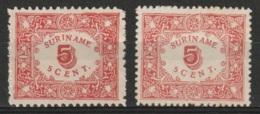 Suriname 1909 Hulpuitgifte 5 Ct NVPH 58 And 59 MH* - Suriname ... - 1975
