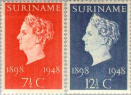 Suriname 1948 Jubileum Wilhelmina - NVPH 274-275 Postfris/MNH/** - Suriname ... - 1975