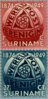 Suriname 1949 75 Jaar U.P.U. Escher.  NVPH 278-279 MH* Hinged - Suriname ... - 1975