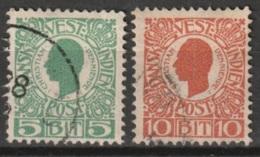 Dansk Vestindien 1905 5 Cent En 10 Ct Mi. 21-22 Yvert 27-28 - Deens West-Indië