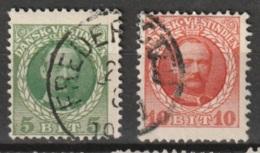 Dansk Vestindien 1907 5 Cent En 10 Ct Mi. 41-42 Yvert 36-37 - Deens West-Indië
