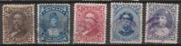 Hawaii 1875-1891 Yvert 27, 29, 30, 31, 41 Oblitéré - Hawaï