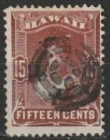 Hawaii 1882 15 Cents Yvert 33  Oblitéré - Hawaï