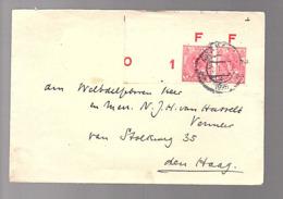 1925 IMPERFORATED Pair With '0' At Far Left > N.J.H. Van Hasselt Vermeer Stolkweg 35 Den Haag (FG-42) - Periode 1891-1948 (Wilhelmina)
