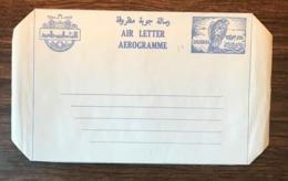 DUBAI 1971 Birds Falcon Mint Postal Stationery Aerogramme 25d Blue Mint - Birds