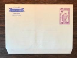 DUBAI 1963 Birds Falcon Mint Postal Stationery Aerogramme 40np Violet Mint - Birds