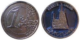 05624 GETTONE TOKEN JETON CADDY PRE EURO BARCELLONA - Espagne