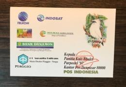 INDONESIA 1997 Birds Postal Stationery Postcard Pre-addressed Myna Bird - Birds