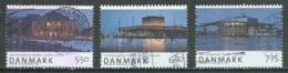 Danemark YT N°1490/1492 Théatre National Danois Oblitéré ° - Denmark