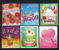 TAILANDIA - 2009 - FRANCOBOLLI AUGURALI - USATI - Tailandia