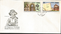 V) 1973 CARIBBEAN, 500TH ANNIVERSARY OF THE BIRTH OF NICOLAUS COPERNICUS, BIRTHPLACE, TORUN, AND INVENTIONS, MANUSCRIPT, - Cuba