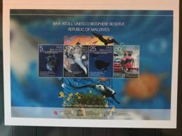 MALDIVES 2011 Baa Atoll Biosphere Reserve Birds Presentation Folder MNH - Oiseaux