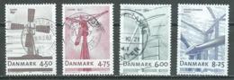 Danemark YT N°1457/1460 Moulin à Vent Et éoliennes Oblitéré ° - Denmark