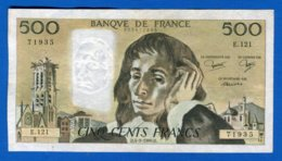 500 Fr Du 4/ 9/1980 - 500 F 1968-1993 ''Pascal''