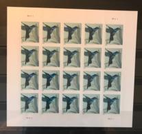 USA 2014 Birds Hummingbird 20v Sheet Self Adhesive MNH - Birds