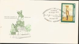 V) 1973 CARIBBEAN, CENTENARY OF DEATH OF MAJ. GEN IGNACIO AGRAMONTE, PORTRAIT BY A. ESPINOSA, WITH SLOGAN CANCELATION IN - Cuba