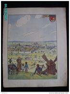 DS1    003  Signé HANSI  .PARIS   SAINT  SEBASTIEN  MOULIN Moyen âge  Papier Velin  Linotype De  27 X 35 Cm - Alsace