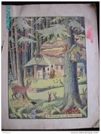 DS1    006  Signé  HANSI  HUEN   L '.ERMITAGE  .DE SAINT FLORENTIN Moyen âge  Papier Velin  Linotype De  27 X 35 Cm - Alsace