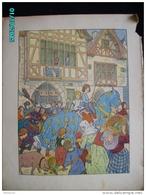 DS1    009 .  HANSI  HUEN ..A LA TRUIE QUI FILE AUBERGE   COCHON .Moyen âge  Papier Velin  Linotype De  27 X 35 Cm - Alsace