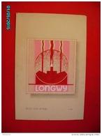 PHIL1     006   LONGWY  PROJET  TIMBRE  1945  GOUACHE  50 Cm X 34cm .  LORRAINE  Signé  :  F.C MAS - Elzas-Lotharingen
