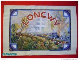 PHIL1     001   LONGWY  PROJET TIMBRE  1945  GOUACHE  48 Cm X 34 Cm  Signé  BLAHOS   -- LORRAINE - Elzas-Lotharingen