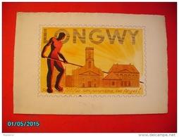 PHIL1     008   LONGWY  RARE PROJET  De TIMBRE  1945  AQUARELLE  ENCRE CHINE GOUACHE  50 Cm X 34.  LORRAINE - Elzas-Lotharingen