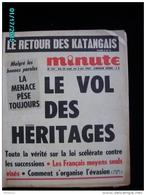 JX1   001   SEPTEMBRE 1968  VOL DES HERITAGES EVASION FISCALE  JOURNAL MINUTE  COHN BENDIT ..CEUX DE  68 REVOLUTION - Kranten