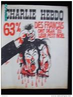 JX1   010  . Decembre 1972 .DECAPITATIONS   PETIT NOEL ... Couverture Signée  CABU..gebe..  Charlie Hebdo - Journaux - Quotidiens