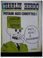 JX1   011  . FEVRIER 1973 . PETAIN..AUX....... Couverture Signée  WOLINSKI  Dos  Par CABU.....gebe..  Charlie Hebdo - Kranten