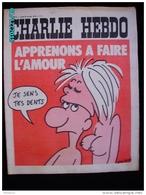 JX1   012  JANVIER 1973 .APPRENONS A FAIRE L' AMOUR  Couverture Signée WOLINSKI Dos Par REISER...gebe.cabu Charlie Hebdo - Journaux - Quotidiens