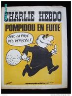 JX1   014  MARS  1973 . POMPIDOU  EN  FUITE ..... Signé WOLINSKI Dos Par TOC  REISER...gebe.cabu Charlie Hebdo - Journaux - Quotidiens