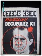 JX1   015  DECEMBRE  1972 . .NIXON   REVEILLON  Mesmer  Signé  GEBE  WOLINSKI Dos Par TOC  REISER..cabu Charlie Hebdo - Journaux - Quotidiens