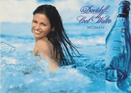 "1 CARTOLINA - CITRUS PROMOTION - EDIZIONE LIMITATA - N° 298 - ""DAVIDOFF COOL WATER WOMAN"" - Reclame"