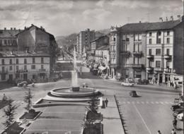 ALBA-CUNEO-PIAZZA SAVONA-FONTANA FERRERO-CARTOLINA VERA FOTOGRAFIA-VIAGGIATA TRA IL 1955-1960 - Cuneo