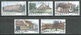 Danemark YT N°1393/1397 Maisons Danoises Oblitéré ° - Danemark