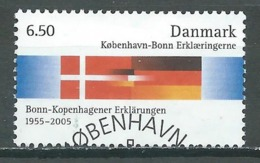Danemark YT N°1403 Déclaration Copenhague-Bonn (Emission Commune Danemark-Allemagne) Oblitéré ° - Danemark