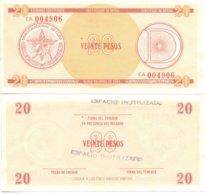 CUBA 1985 - SERIE D1 / 20 PESOS - FX31 - RARE FX CERTIFICATE BANKNOTE  -  XF+ - Cuba