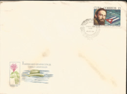 V) 1969 CARIBBEAN, DISAPPEARANCE OF MAJ. CAMILO CIENFUEGOS, 10TH ANNIVIVERSARY, WITH SLOGAN CANCELATION IN BLACK, FDC - Covers & Documents