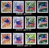 Etats-Unis / United States (Scott No.4766-77 - Flag) (o) - Etats-Unis