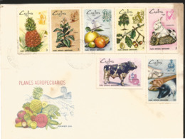 V) 1969 CARIBBEAN,SPECIAL AGRICULTURAL PLANS, AGRICULTURE, MULTIPLE STAMPS, BLACK CANCELATION, FDC - Covers & Documents