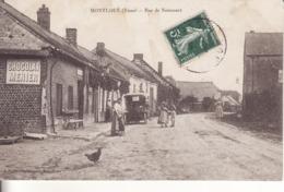 Montloué - Rue De Noircourt - Café - Automobile - Belle Animation - - Other Municipalities