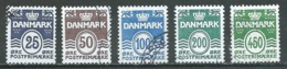 Danemark YT N°1415/1419 Lignes Ondulées Oblitéré ° - Danemark