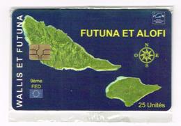 Wallis Et Futuna Telecarte Phonecard Prepaid WF Carte Futuna Non Numerotee Neuve NSB Ut TBE - Wallis En Futuna